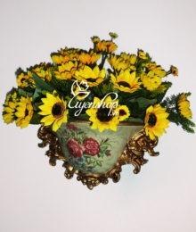 Hoa lụa, hoa giả Uyên shop, Treo tường phong cách Châu Âu