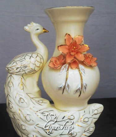Hoa lụa, hoa giả Uyên shop, Chim công Hoa