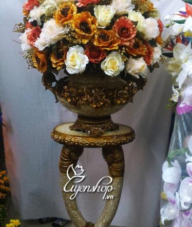 Hoa lụa, hoa giả Uyên shop, Bình hoa Ngà Voi
