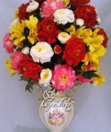 Hoa lụa, hoa giả Uyên shop, Bình hoa Phòng khách đẹp