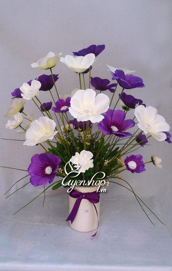 hoa canh buom trang tim