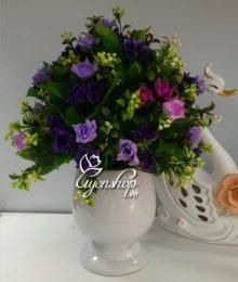 Hoa lụa, hoa giả Uyên shop, Hoa tím để bàn