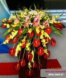 Hoa lụa, hoa giả Uyên shop, Hoa bục phát biểu lớn