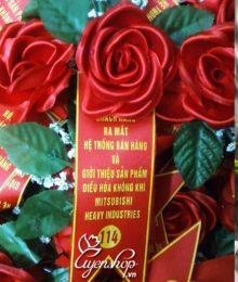 Hoa lụa, hoa giả Uyên shop, Hoa cài áo đại biểu