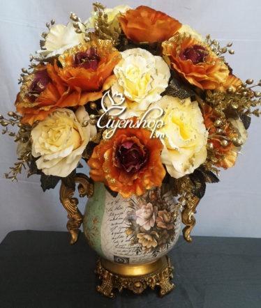 Hoa lụa, hoa giả Uyên shop, Bình hoa Châu Âu