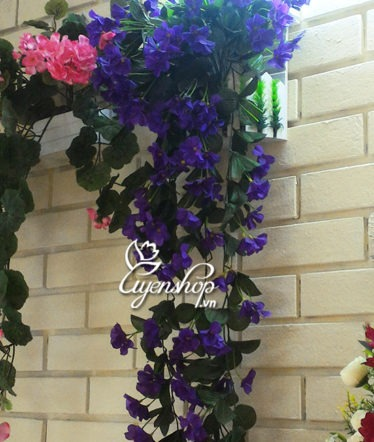 Hoa lụa, hoa giả Uyên shop, Giỏ hoa Tú cầu