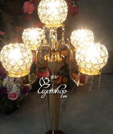 Hoa lụa, hoa giả Uyên shop, Đèn trùm 5 đầu