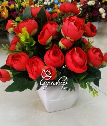 Hoa lụa, hoa giả Uyên shop, Hồng trà đỏ
