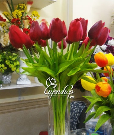 Hoa lụa, hoa giả Uyên shop, Hoa Tulip