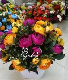 Hoa lụa, hoa giả Uyên shop, Vẻ đẹp Hồng Trà