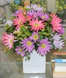 Hoa lụa, hoa giả Uyên shop, Hoa cúc họa mi