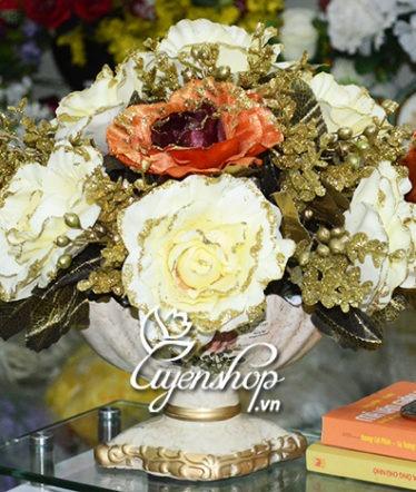Hoa lụa, hoa giả Uyên shop, Thuyền hoa