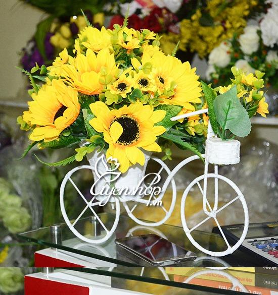 xe dap hoa huong duong