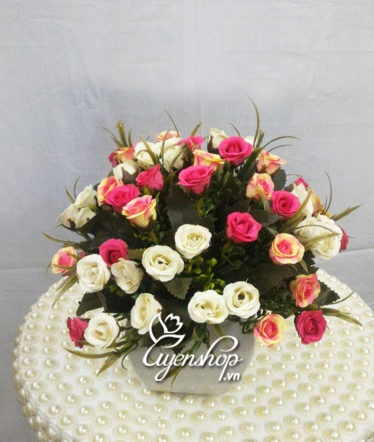 Hoa lụa, hoa giả Uyên shop, Lọ hồng tỉ muội