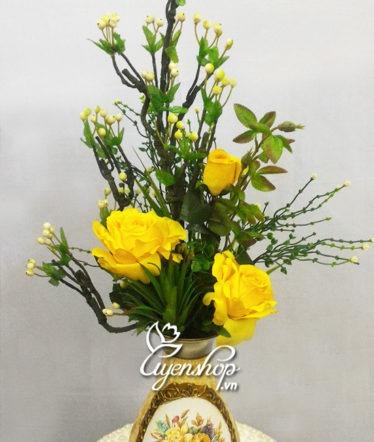 Hoa lụa, hoa giả Uyên shop, Lọ hoa nghệ thuật