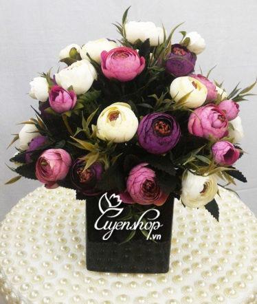 Hoa lụa, hoa giả Uyên shop, Hoa trà nhỏ