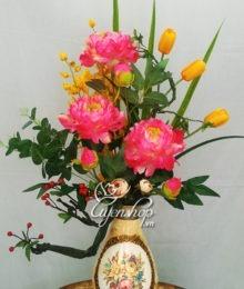 Hoa lụa, hoa giả Uyên shop, Binh hoa nghệ thuật