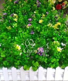 Hoa lụa, hoa giả Uyên shop, Hàng rào cây xanh mát