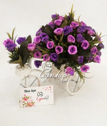 Hoa lụa, hoa giả Uyên shop, Xe đạp hoa tỉ muội
