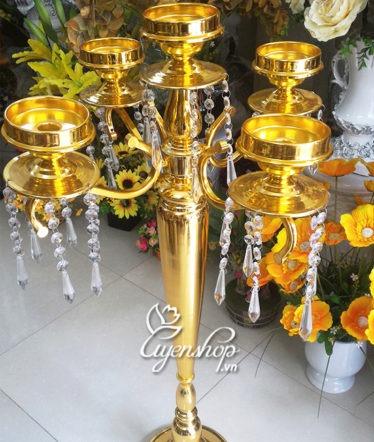 Hoa lụa, hoa giả Uyên shop, Đèn nến màu vàng