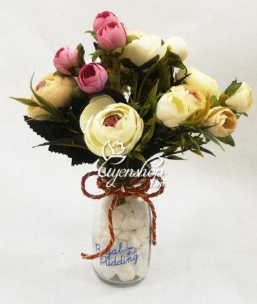 Hoa lụa, hoa giả Uyên shop, Hoa trà nhỏ xinh