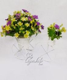 Hoa lụa, hoa giả Uyên shop, Xe đạp to hoa Thạch thảo