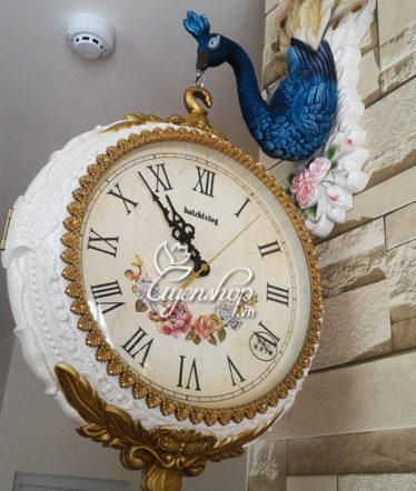 Hoa lụa, hoa giả Uyên shop, Đồng hồ chim công