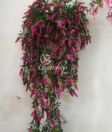 Hoa lụa, hoa giả Uyên shop, Bộ hoa treo tường Oải hương
