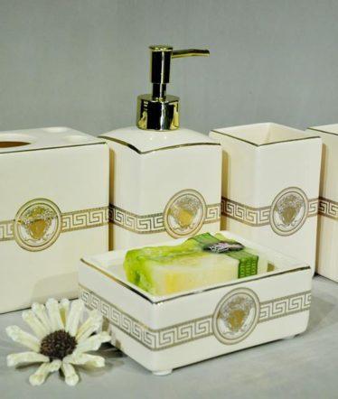 Hoa lụa, hoa giả Uyên shop, Bộ đồ dùng phòng tắm Versace