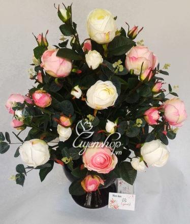 Hoa lụa, hoa giả Uyên shop, Hoa hồng cao cấp