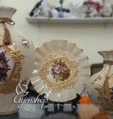 Hoa lụa, hoa giả Uyên shop, Bộ trưng bày hoa Mẫu đơn