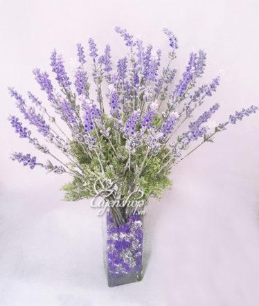 Hoa lụa, hoa giả Uyên shop, Bình hoa Lavender