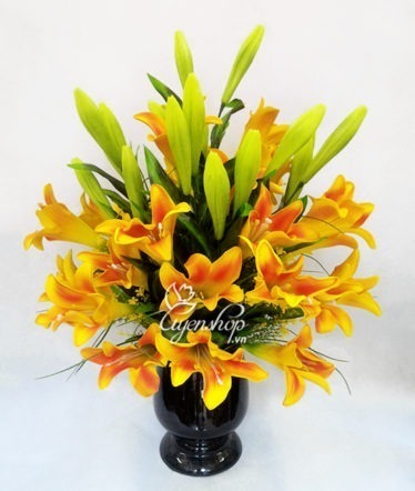 Hoa lụa, hoa giả Uyên shop, Hoa loa kèn