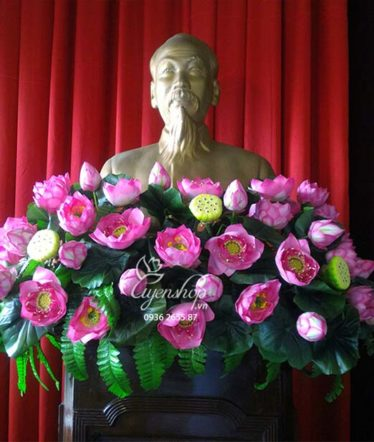 Hoa lụa, hoa giả Uyên shop, Hoa Tượng Bác