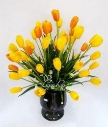 Hoa lụa, hoa giả Uyên shop, Hoa tulip vàng cam