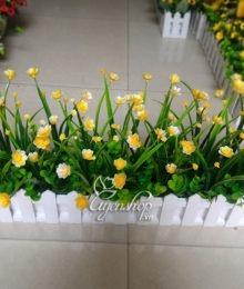 Hoa lụa, hoa giả Uyên shop, Hàng rào điểm hoa nhỏ