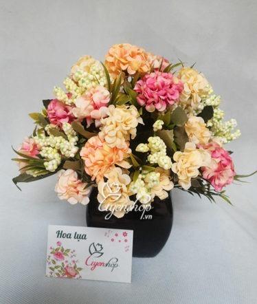 Hoa lụa, hoa giả Uyên shop, Hoa cẩm tú cầu