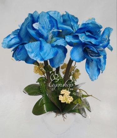 Hoa lụa, hoa giả Uyên shop, Bình Huệ Tây xanh