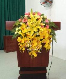 Hoa lụa, hoa giả Uyên shop, Hoa bục phát biểu