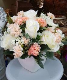 Hoa lụa, hoa giả Uyên shop, Hoa hồng tú cầu
