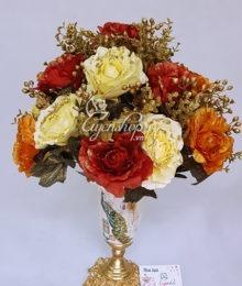 Hoa lụa, hoa giả Uyên shop, Bình hoa Chim Công