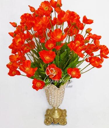 Hoa lụa, hoa giả Uyên shop, Sắc cam nổi bật
