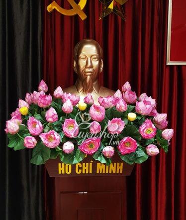 Hoa lụa, hoa giả Uyên shop, Hoa Tượng Bác Hồ