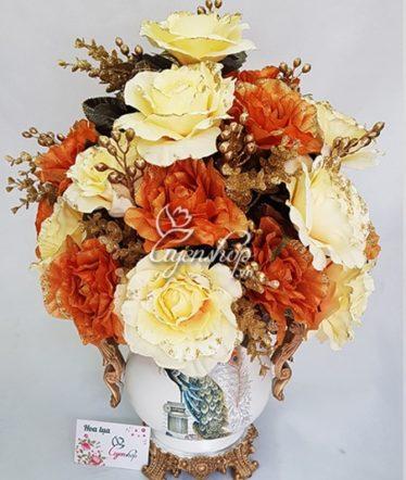 Hoa lụa, hoa giả Uyên shop, Bình hoa Lụa
