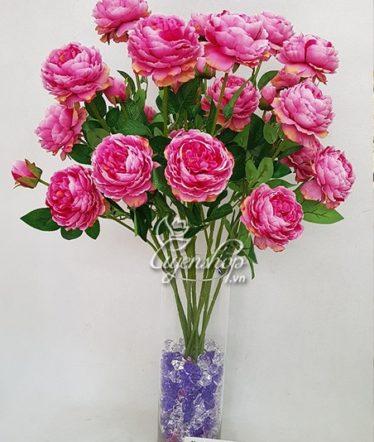 Hoa lụa, hoa giả Uyên shop, Lọ hoa trà tím