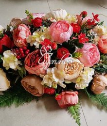 Hoa lụa, hoa giả Uyên shop, Hoa để bàn đẹp
