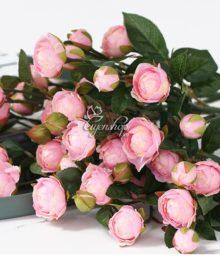 Hoa lụa, hoa giả Uyên shop, Cành hồng trà