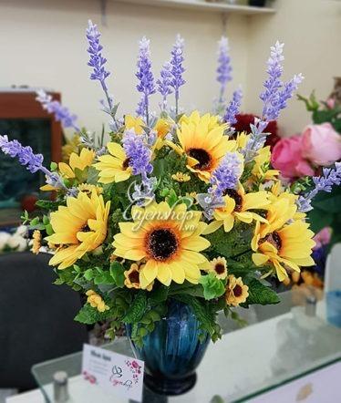 Hoa lụa, hoa giả Uyên shop, Sắc hè rực rỡ