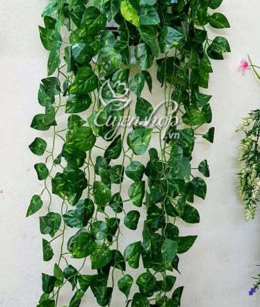 Hoa lụa, hoa giả Uyên shop, Giỏ lá treo tường