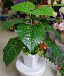Hoa lụa, hoa giả Uyên shop, Cây xanh trang trí